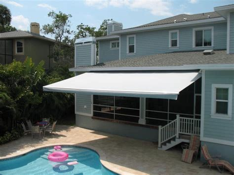 awnings clearwater sunesta retractable awning over pool area in ta fl yelp