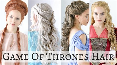 hairstyles games iconic game of thrones hairstyles hair tutorial youtube