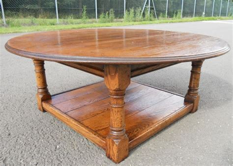 large oak coffee table sold