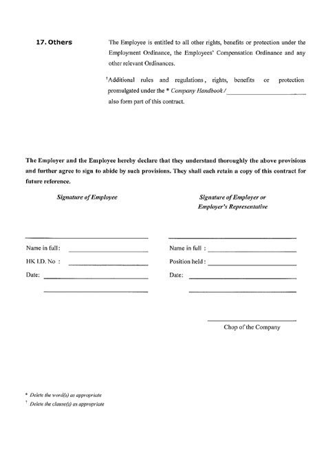 contra agreement template sle employment contract free