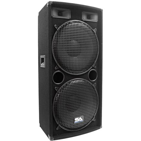 Speaker A Net seismic audio pair dual 15 quot pa dj speakers 1000 watts pro