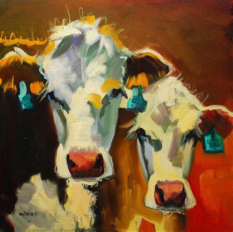 sibling cows painting  diane whitehead