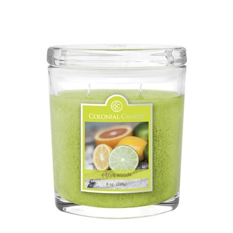 Colonial Candle Citrus Woods 8 Oz Oval Jar Colonial Candle