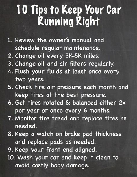 Tips For Keeping Your Car On The Road by 10 Tips To Keep Your Car Running Right