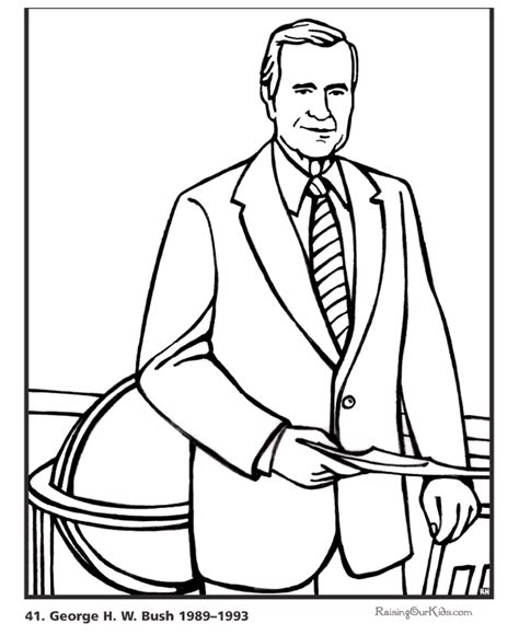 George W Bush Coloring Page george h w bush pictures and coloring pages