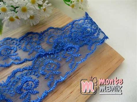 Putik Bunga Kaca Biru Muda Ptk011 renda kaca bunga biru tua org 010 montemanik pusat bahan dan perlengkapan kerajinan tangan