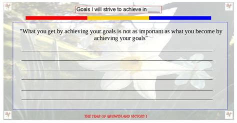 goal card template 6 useful goal setting templates and one step closer to