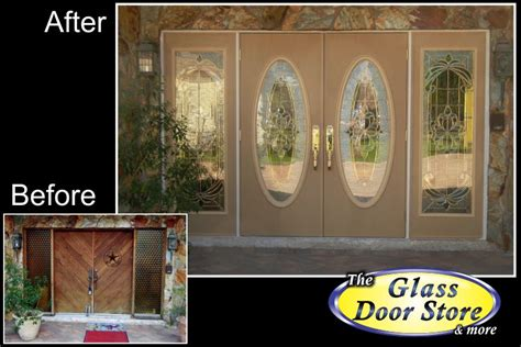 Oval Glass Insert For Front Door by Single Front Door With Glass Insert Partial Size The