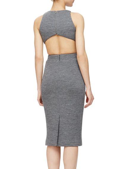 Cutout Sheath Knit Dress cushnie et ochs cutout knit sheath dress
