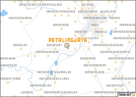petaling jaya map petaling jaya malaysia map nona net