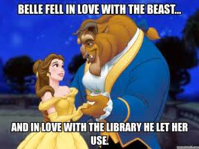 Beauty And The Beast Meme - beauty and the library