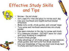 being an effective student study skills