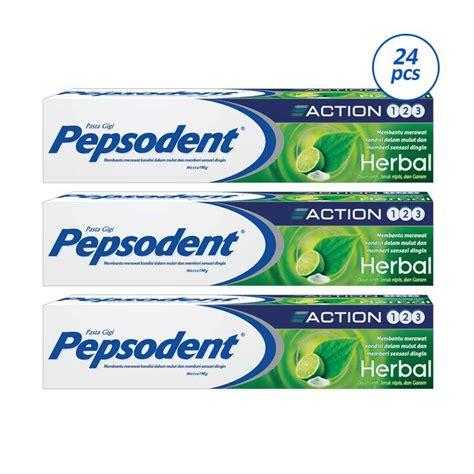 Pasta Gigi Pepsodent Besar jual pepsodent 123 pasta gigi herbal 24 pcs 190 g