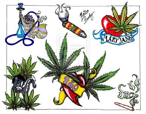 tattoo flash graphics marijuana tattoo weed leaf csmoke tattoo flash sheet by