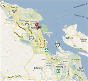 map hub city st club nanaimo bc