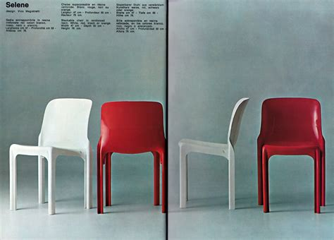 sedia selene selene stackable chair artemide by vico magistretti artemide