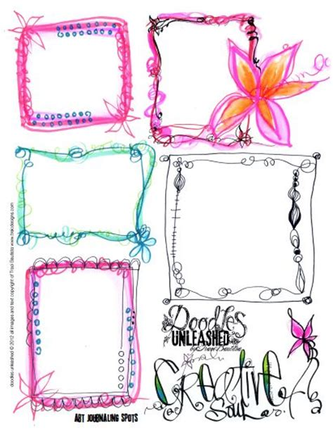 free design journals doodles unleashed art journaling spots free printable by