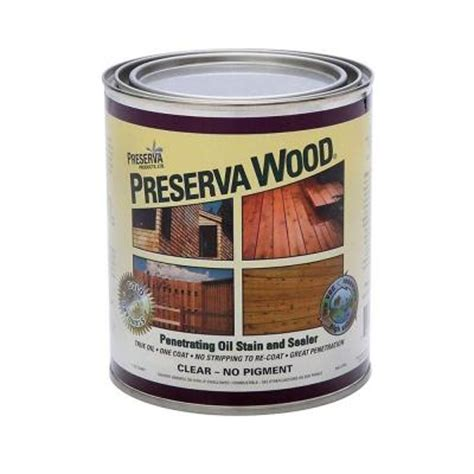 preserva wood  qt oil based clear penetrating stain