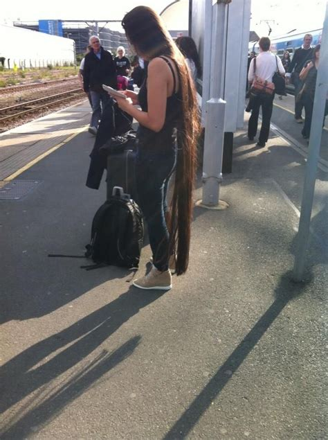 longest public hair long hair down to her feet long hair in public places