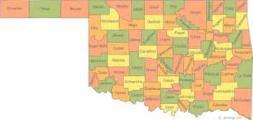 Ok State Map by Map Of Oklahoma