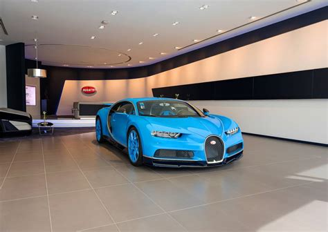 bugatti chiron dealership largest bugatti showroom in dubai opened gtspirit