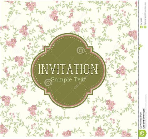 vintage photo card template vintage floral invitation card stock illustration image