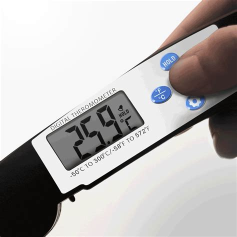 Digital Food Thermometer For Kitchen Cooking Bbq Tp600 thermometers kcasa kc tp600 foldable instant read