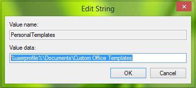 Create Custom Templates Installation Location For Office 2016 2013 Custom Office Templates Folder 2016