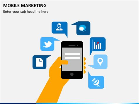 marketing mobil mobile marketing powerpoint template sketchbubble