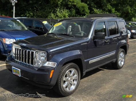 navy blue jeep liberty 2008 jeep liberty limited 4x4 in modern blue pearl