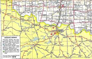 oklahoma border map us 62 across southwest oklahoma 1966 flickr photo