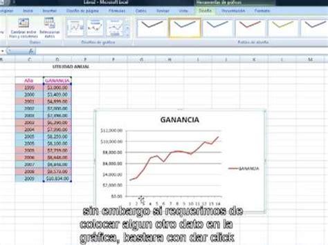 tutorial excel graficos 2007 tutorial graficas excel youtube