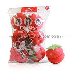 Magic Strawberry Roll Sponge Hair Curler Strawberry Hair Curler magic strawberry roll spons pengeriting rambut