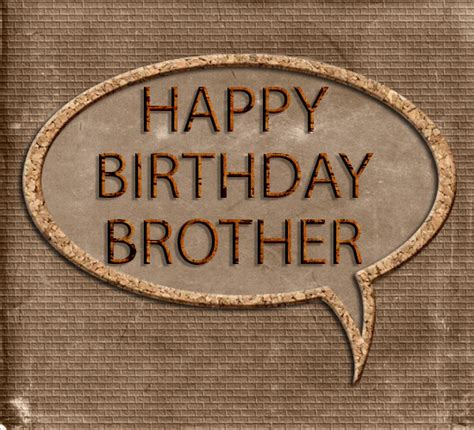 Happy Birthday Brother. Masculine Brown. Free Brother