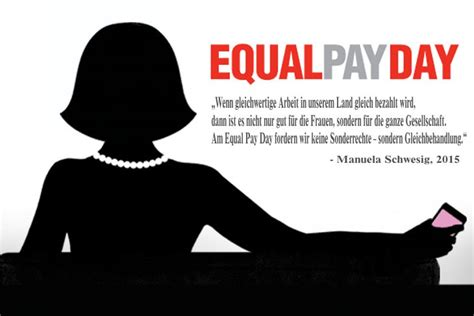 equal pay day show the bundesfrauenministerin schwesig aktiv am equal pay day