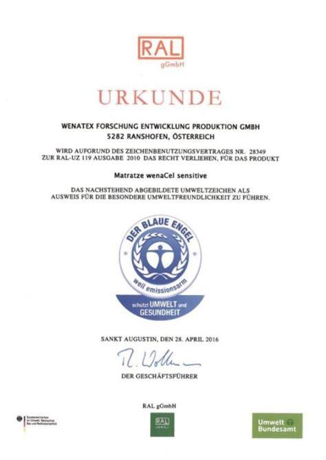 wenatex matratze auszeichnungen und zertifikate