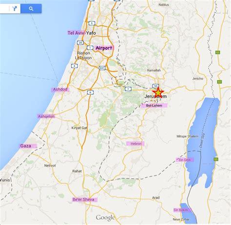 where is jerusalem on the map image gallery jerusalem to gaza map