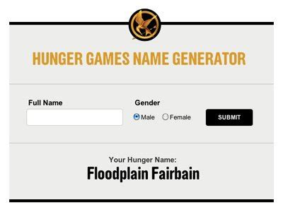 game theme generator hunger games theme name generator new dvd release