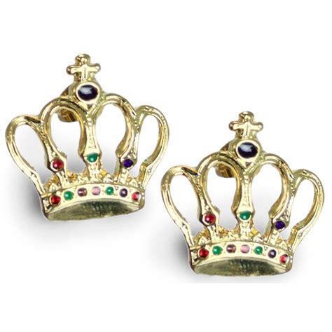 Crown Earring gold crown earrings mardigrasoutlet