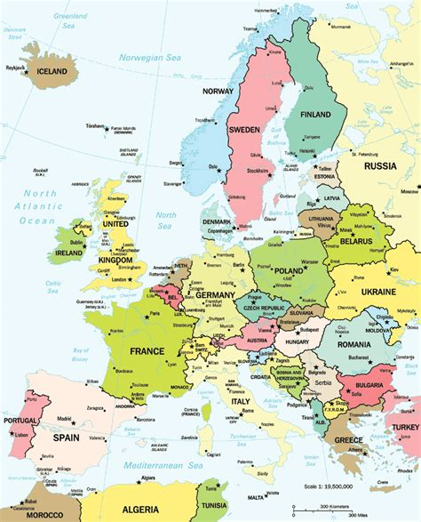 map of eurpore political map of europe free printable maps