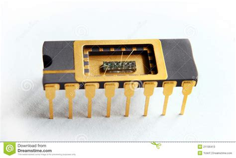 what is inside integrated circuits opened ic with chip inside on the white background stock image image 21156413
