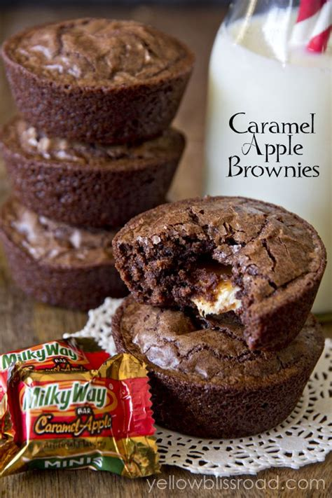 Apple Brownies Crunch Brownies Apel Crunch caramel apple brownies recipe caramel apples caramel apple cupcakes and muffin cups