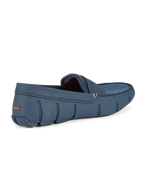 swims rubber loafers swims rubber loafers in blue for navy lyst