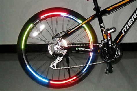 Bicycle Wheel Reflective Sticker Stiker Roda Sepeda 8 bicycle reflector fluorescent mtb bike bicycle sticker cycling wheel reflective stickers