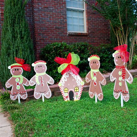 christmas yard decor gingerbread man christmas by looleighscharm