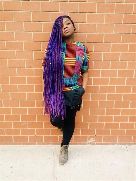 big braids in dark colours for blackwoman 17 best ideas about purple braids on pinterest purple