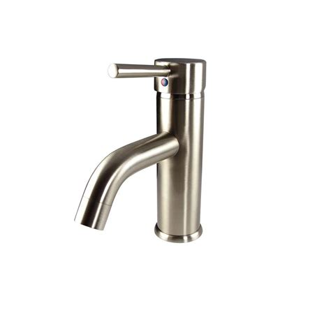 Home Depot Bathroom Vanity Faucets Fresca Sillaro Single 1 Handle Low Arc Bathroom Faucet In Brushed Nickel Fft1041bn The