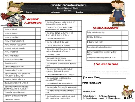 boyfriend report card template 6 kindergarten progress report edu techation