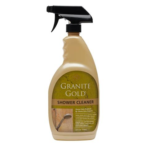 marble bathroom cleaner granite gold 24 oz shower cleaner gg0039 the home depot
