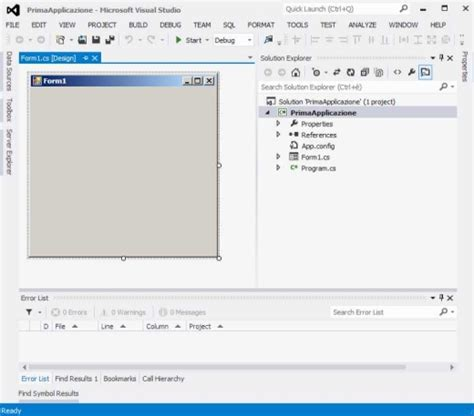 format html visual studio 2012 applicazioni windows form guida visual studio 2012